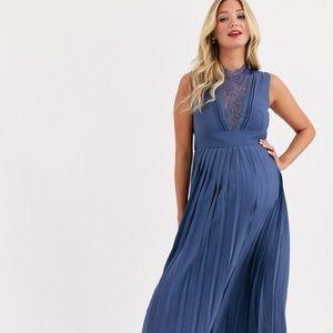 Little Mistress Maternity Lace midi dress